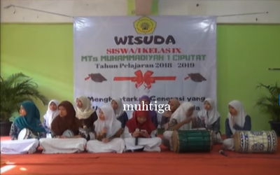 Kegiatan peliputan wisuda MTs. Muhammadiyah 1 Tangerang Selatan 2019